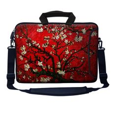 "Meffort Inc 15 15.6 inch Neoprene Laptop Bag Sleeve with Extra Side Pocket, Soft Carrying Handle & Removable Shoulder Strap for 14"" to 15.6"" Size Notebook Computer - Vincent van Gogh Cherry Blossoming Meffort Inc,http://www.amazon.com/dp/B00EN2PNWQ/ref=cm_sw_r_pi_dp_TOE1sb1K7KEQZRMB"