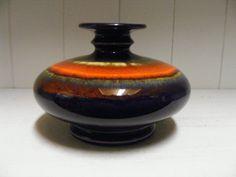 Purple/orange Hutschenreuther vase