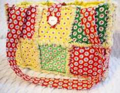 rag quilt purse or tote on Etsy