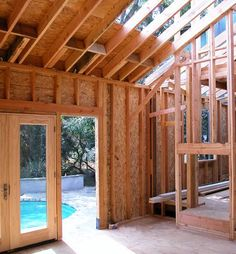 Framing & Construction Typical house framing is like the skeleton of a home, giving the building its structure.Typical house framing is like the skeleton of a home, giving the building its structure. Building Structure, Building Materials, Building A House, Building Ideas, Framing Construction, Wood Construction, House Foundation, Minimalist House Design, Home Repairs
