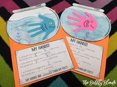 iGameMom 7 Fun Body Measurements for Kids with a piecDr. Seuss Day Measuring with 1 Fish, 2 Fish, Red Fish, Blue Fish! - The Bubbly Blonde Teacher Dr Seuss Activities, Fish Activities, Kindergarten Activities, Teaching Math, Teaching Ideas, Book Activities, Measurement Kindergarten, Measurement Activities, Math Measurement