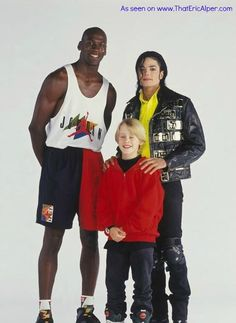 Photo: Michael Jordan, Michael Jackson and Macaulay Culkin.