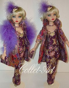 "2012 ELLOWYNE WILDE PRUDENCE MOODY IMPERIUM PARK OOAK OUTFIT ""HAPPY NEW YEAR"" BY COLLET-ART 
