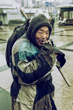Homeless in Shanghai, China