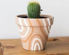 Ice Cream Planter 4 in Plant Pot Terracotta Pot Hand   Etsy Terracotta Plant Pots, Painted Plant Pots, Ceramic Plant Pots, Painted Flower Pots, Indoor Plant Pots, Potted Plants, Small Flower Pots, Belleza Natural, Planters