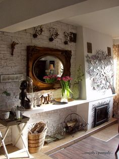 .zmysły i pomysły: kominek i ptaszarnia w salonie...
