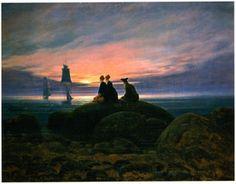 FRIEDRICH Caspar David - German (1774-1840) ~ Mondaufgang am Meer