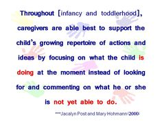 From Tender Care and Early Learning by Jacalyn Post and Mary Hohmann.