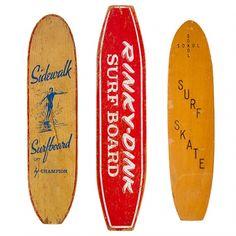 Designspiration — 1STDIBS.COM - Surfing Cowboys - Collection of 3 1960s Skateboards ($200-500) - Svpply