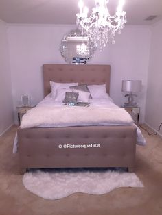 My master bedroom in my new townhouse. Pinterest has truly inspired me. #NewHomeowner Polished chic