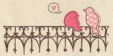 Lovebirds (Applique) | Urban Threads: Unique and Awesome Embroidery Designs