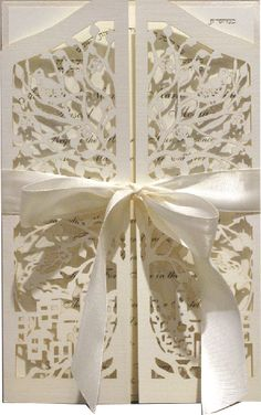 Mazel Tov Papercut Wedding Invitations