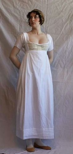 Reproduction corset, chemise, and petticoat with straps - front