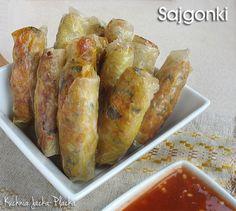 Sajgonki Spring Rolls, Bon Appetit, Finger Foods, Asian Recipes, Food Art, Sushi, Food To Make, French Toast, Food And Drink