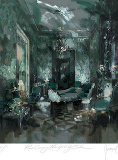 Interior - Jeremiah Goodman - Rose Cumming's, New York City Sitting Room
