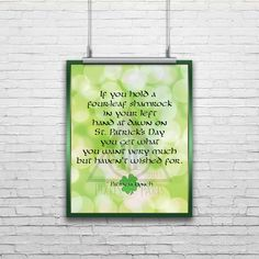 St. Patrick's Day Art Print by PixelsandParts on Etsy