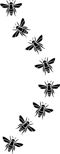 Flight of the bumble bee.  Stencil gallery