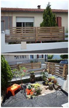 Fence with pallets / Barrière en palettes