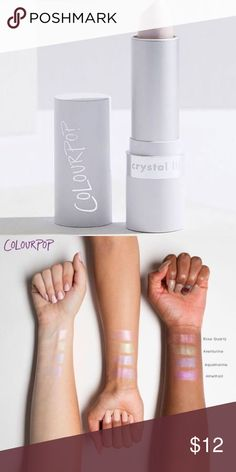 NEW  Colourpop Crystal Balm Lipstick in Amethyst New in box (unsealed) A moisturizing, crystal-infused lip balm that can be used alone or as an opalescent topper for your favourite lippie!  Opalescent lavender infused with crushed Amethyst crystals Colourpop Makeup Lipstick