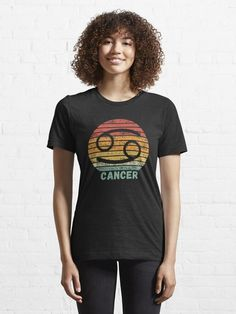 A great wardrobe staple, this comfy, everyday tee features a retro, vintage inspired style design, with a distressed effect and the symbol for the Cancer star sign. Great for birthdays, Christmas gifts or as a treat for yourself! #cancer #starsigns #zodiacsigns #retrovintage Retro Shirts, Vintage Shirts, I Need Vitamin Sea, New Years Shirts, Party Shirts, Sport T Shirt, Retro Vintage, Vintage Vibes, Vintage Golf