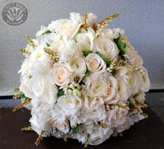 ranunculus, roses pieris and sweetpea