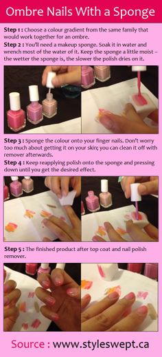 Ombre Nails With a Sponge | PinTutorials