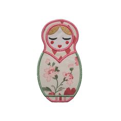 "Natasha Babushka Doll Appliques Machine Embroidery Design Applique Pattern 2 versions in 4 sizes 4"", 5"", 6"" and 7"" by BigDreamsEmbroidery on Etsy https://www.etsy.com/listing/62711500/natasha-babushka-doll-appliques-machine"