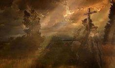 'Das Kreuz im Gebirge. Frei nach Caspar David Friedrich.' von Marie Luise Strohmenger bei artflakes.com als Poster oder Kunstdruck $19.41
