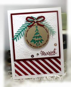Hello Peeps !!!     Happy Wednesday !!!     I wanted to share another post using the Merriest Wishes stamp set. I made this card ...
