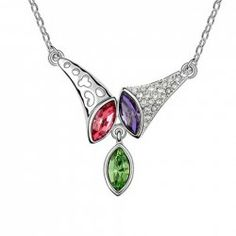 $1.37 Sparking Rhinestoned Horn Decorated Pendant Necklace For Women