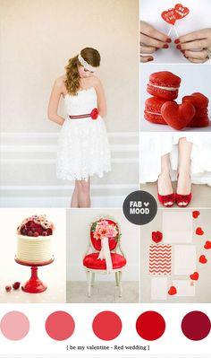 Valentine wedding color ideas   http://fabmood.com/valentine-wedding-color-ideas/