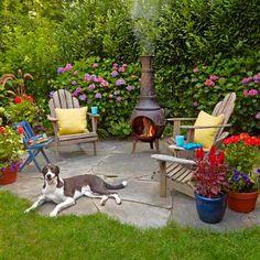New small patio design backyard retreat decks Ideas Backyard Sitting Areas, Backyard Retreat, Small Backyard Landscaping, Fire Pit Backyard, Small Patio, Backyard Ideas, Patio Ideas, Landscaping Ideas, Backyard Designs