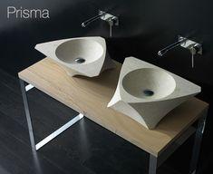 wandgehangtes waschbecken beton trendiges design, glamouröses waschbecken aus holz – echter blickfang in jedem bad, Design ideen