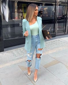Super Stylish Fall Fashion Ideas for Women Classy Outfits, Stylish Outfits, Casual Bar Outfits, Pink Blazer Outfits, Mode Camouflage, Blazer Fashion, Fashion Outfits, Fashion Ideas, Womens Fashion