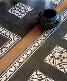 /\ /\ . Floor Wallpaper, Fabric Wallpaper, Floor Patterns, Tile Patterns, Painted Floors, Painted Furniture, Tiled Hallway, Natural Flooring, Black And White Tiles