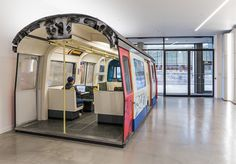 Why Is There A Tube Train Inside An Aldgate Office? | Londonist