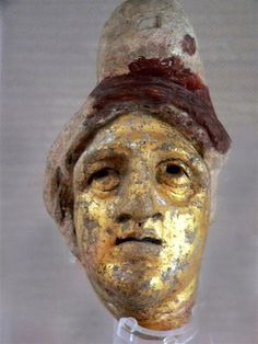 Gilded head of Mithras from a Roman mythraeum.  The Mithraic mysteries were open to slaves and freedmen, and at some cult sites most or all votive offerings are made by slaves, sometimes for the sake of their masters' wellbeing. The cult of Mithras, which valued submission to authority and promotion through a hierarchy, was in harmony with the structure of Roman society, and thus the participation of slaves posed no threat to social order.