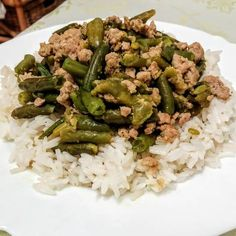 Zöldbabos rizs Asparagus, Green Beans, Risotto, Side Dishes, Vegetables, Cooking, Ethnic Recipes, Food, Kitchen