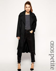 ASOS+PETITE+Coat+with+Tie+Front+and+Patch+Pockets