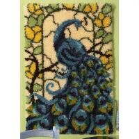 Craftways® Stained Glass Peacock Latch Hook Kit