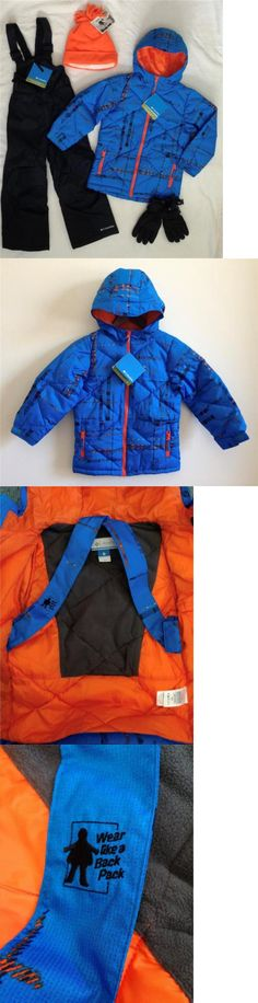 Outerwear 51933: New Columbia Boys 6 7 Winter Jacket, Ski Snow Bib Pants,Gloves,Hat Set Blue $200 -> BUY IT NOW ONLY: $139.99 on eBay!