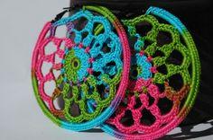 Aros grandes de ganchillo - Big crochet hoops