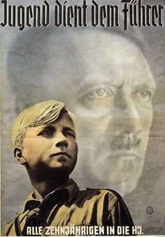 "German Poster, 1940 -- ""Youth Serves the Führer. All 10-year-olds into the Hitler Youth."""