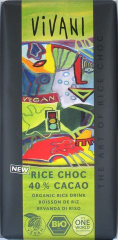 Vivani Rice Choc 40% Cacao