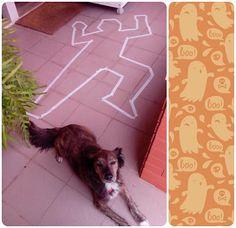 Remains of a crime...ahaha!! Halloween decor :)