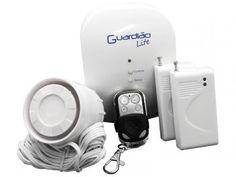 Kit Alarme Residencial/Comercial ON Eletrônicos - Guardião Lite Sem Fio 2 Sensores