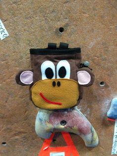 Cute Monkey Chalk Bag by ClovenHoofStudio on Etsy, $32.00