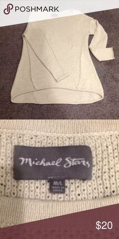 Michael Stars off white sweater Off white sweater long sleeves, a bit lower in back then in front. Michael Stars Sweaters Crew & Scoop Necks