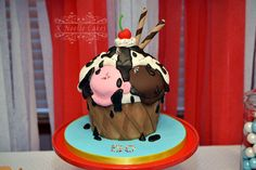 Ice Cream theme birthday cake by K Noelle Cakes