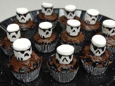 Storm Trooper Cupcakes #starwars